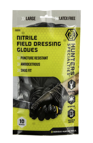 Nitrile Field Dressing Gloves 10-Pk - 100047 - Hunters Specialties