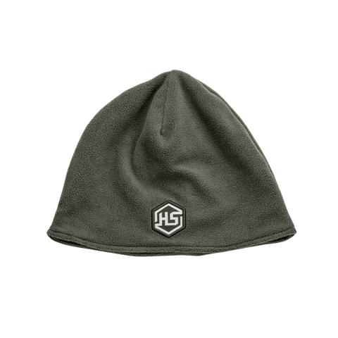 HS Embroidered Grey Fleece Beanie - 100058