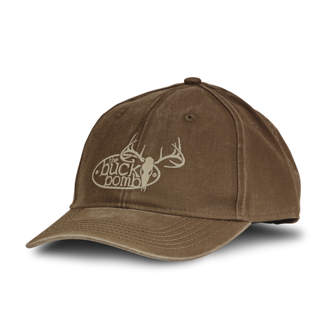 Buck Bomb Earth Brown Embroidered Six Panel Hat - 100063