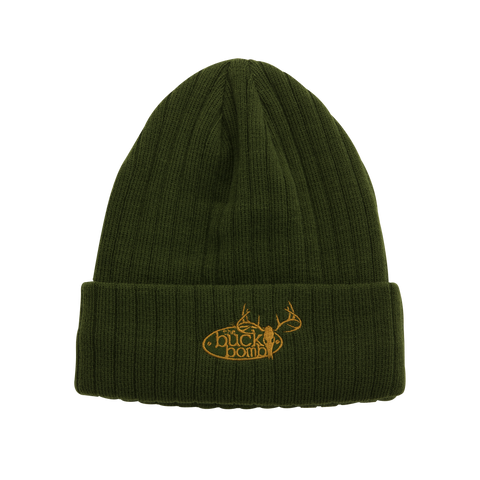 Buck Bomb Embroidered Knit Hat - 100060