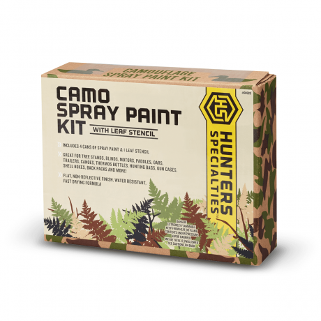Camo Spray Paint Kit with Leaf Stencil - 00320 - Hunters Specialties