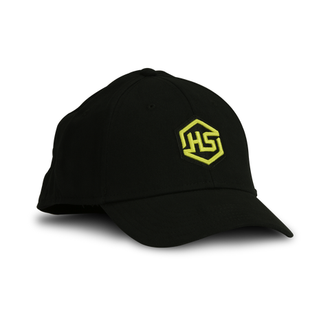 HS Black Embroidered Fitted Hat - 100061