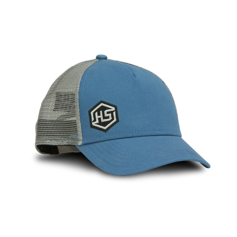 HS Q3 Slate Blue / Grey Mesh Embroidered Trucker Hat -  100062 - Hunters Specialties