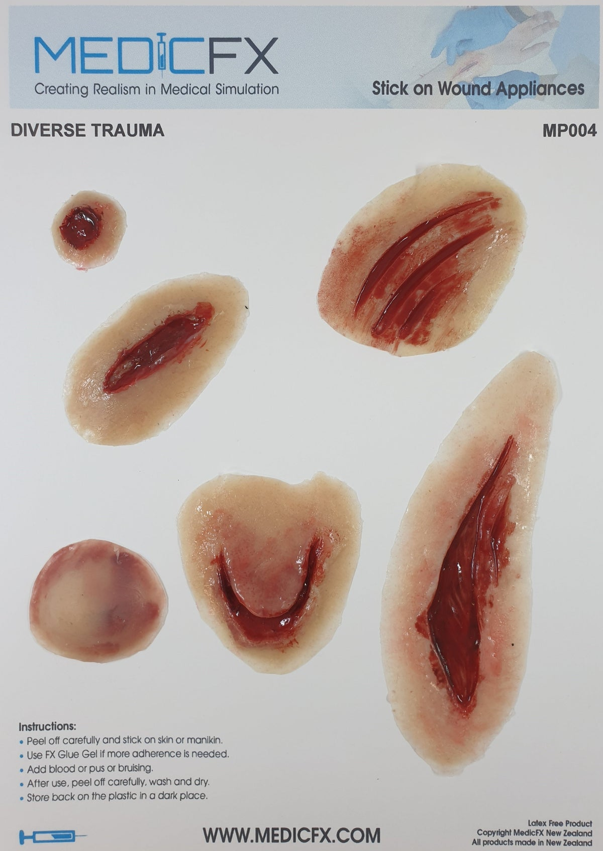 MP004 SHEET DIVERSE TRAUMA