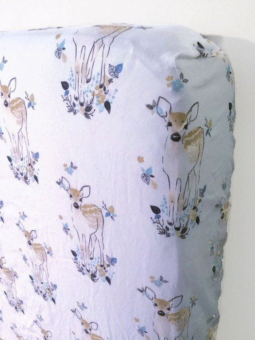 Deer Fitted Crib Sheet - Fawn Baby Bedding - Orange Blossom Special  @orangeblossomspecial805