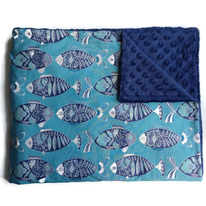 Fish Baby Blanket - Orange Blossom Special  @orangeblossomspecial805