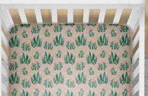 Cactus Fitted Crib Sheet- Desert Bedding Set - Orange Blossom Special  @orangeblossomspecial805