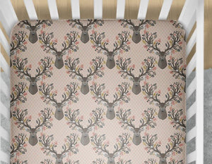 Fawn Fitted Crib Sheet- Deer Bedding - Dream Evergreen @DreamEvergreen
