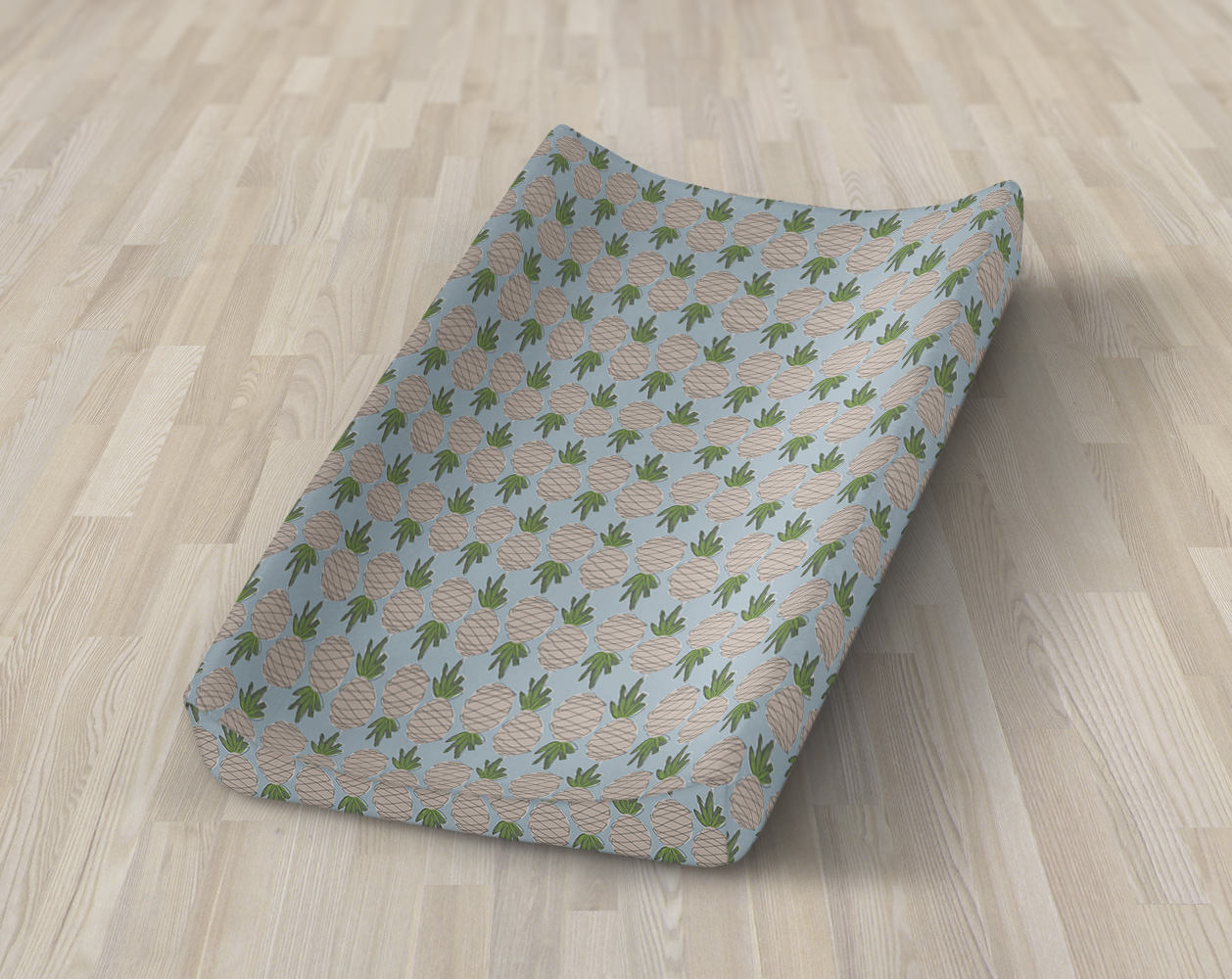 Pineapple Changing Pad Cover- Tropical Fruit Fitted Crib Sheet- Change Mat Cover- Summer Crib Bedding Set- Nursery - Island Sea Baby Shower - Dream Evergreen @DreamEvergreen