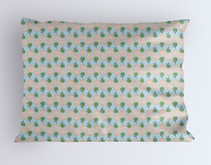Pineapple Pillow Case Cover - Tropical Pillowcase - Blue Toddler Pillow Covers - Dorm Decor- Queen Pillowcase- King Pillowcase- Summer Bed - Orange Blossom Special  @orangeblossomspecial805