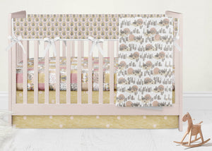 Bears Crib Bedding Set- Woodland Nursery - Orange Blossom Special  @orangeblossomspecial805
