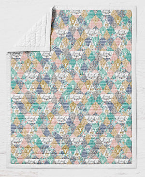 Deer Quilt - Fawn Crib Quilt - Buck Toddler Bedding - Orange Blossom Special  @orangeblossomspecial805
