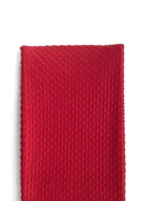 Minky Changing Pad Cover- Red Change Pad Cover - Orange Blossom Special  @orangeblossomspecial805