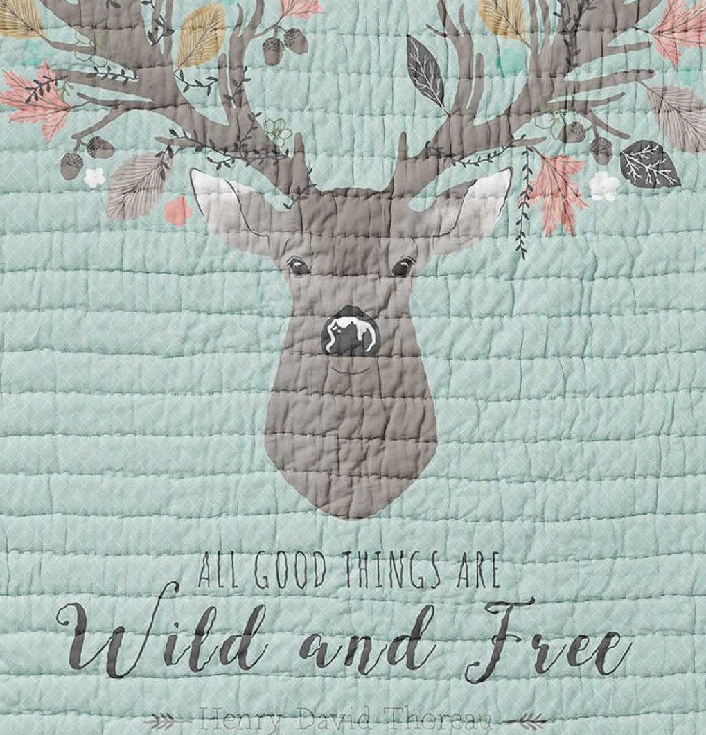 Deer Baby Quilt - Fawn Crib Quilt - Toddler Bedding - Orange Blossom Special  @orangeblossomspecial805