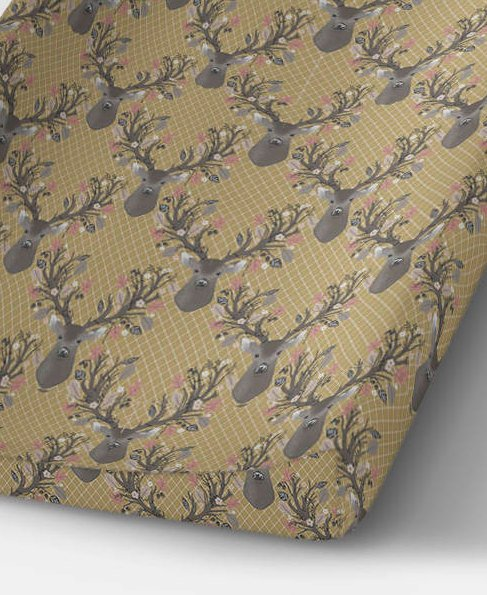 Fawn Changing Pad Cover- Deer Fitted Crib Sheet- Buck Change Mat Cover- Crib Bedding Set- Woodland Nursery Decor - Rustic Baby Shower- Boys - Orange Blossom Special  @orangeblossomspecial805