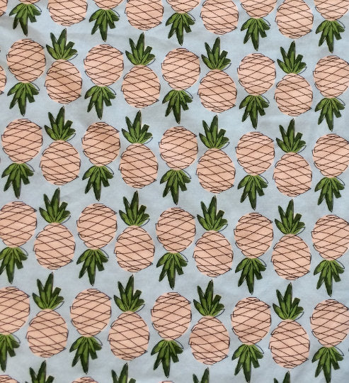 Pineapples Fitted Crib Sheet - Tropical Fruit Baby Bedding Set- Infant Nursery Bedding- Toddler Bed Sheets- Minky Blanket - Baby Shower Gift - Orange Blossom Special  @orangeblossomspecial805