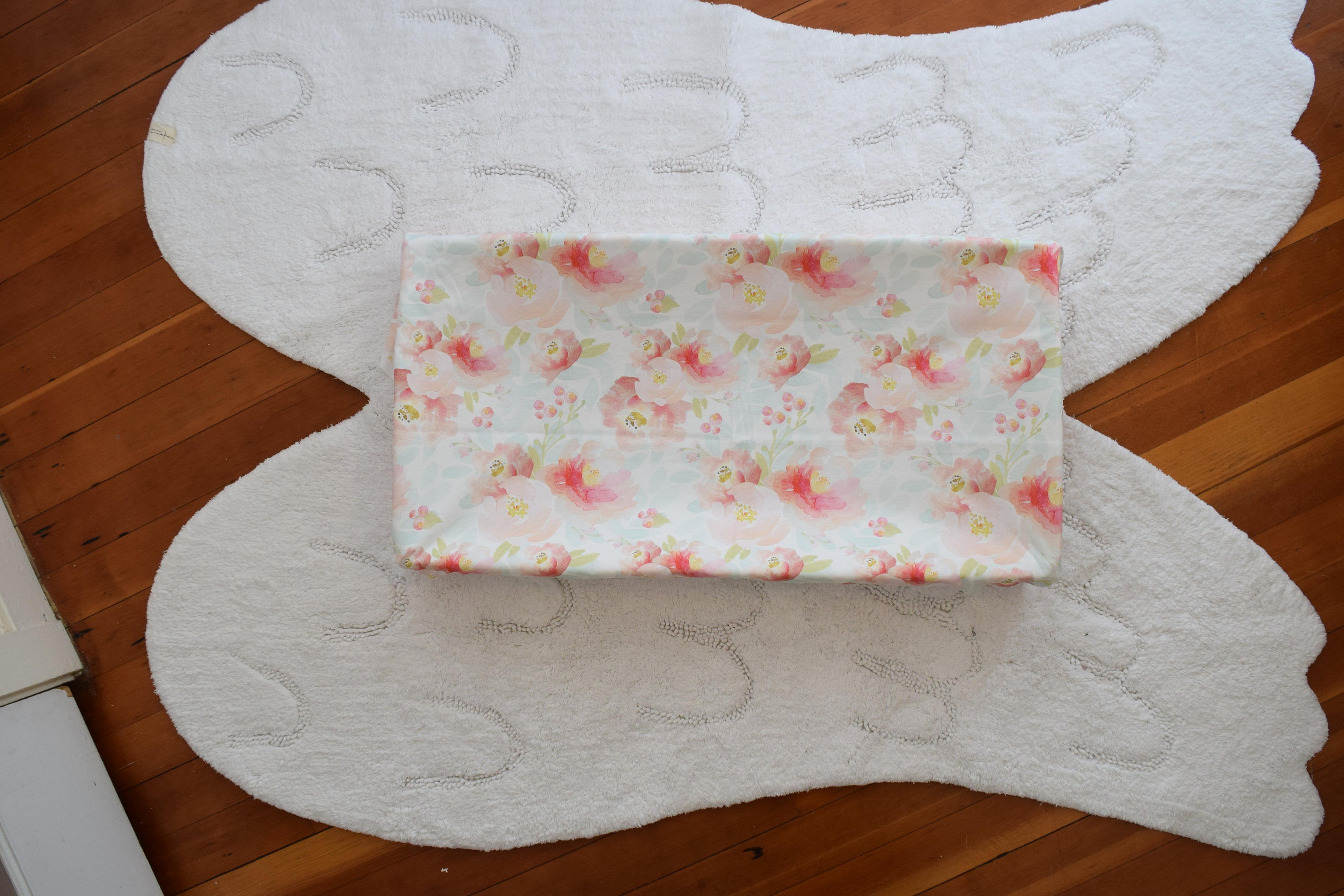 Floral changing pad cover -  Flowers Change Pad Cover - Orange Blossom Special  @orangeblossomspecial805