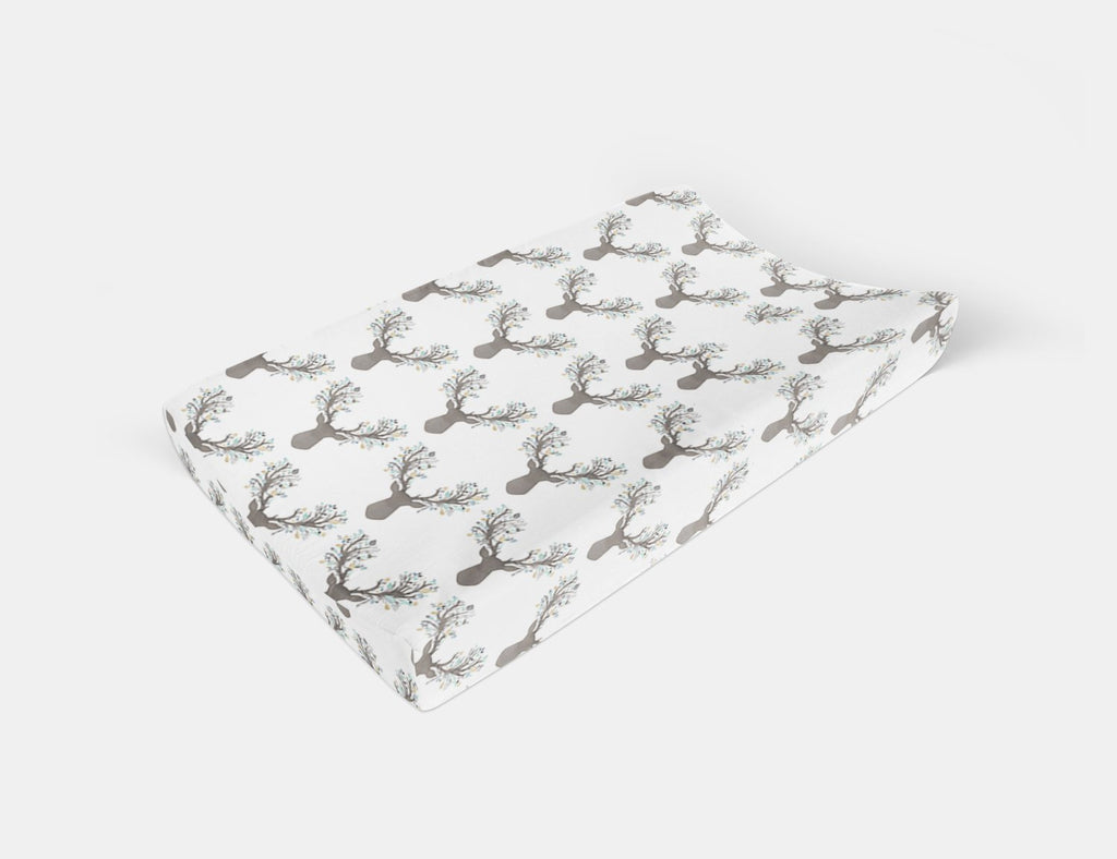 Deer Changing Pad Cover - Fawn Change Pad Cover - Dream Evergreen @DreamEvergreen