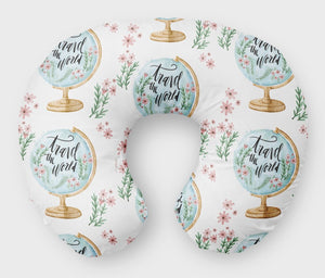 Globe Boppy Cover - Travel Adventure Green Boppy Slipcover - Dream Evergreen @DreamEvergreen