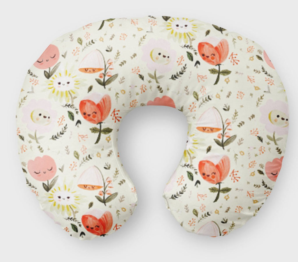 Pink Floral Boppy Cover- Bloom Nursing Slipcover - Dream Evergreen @DreamEvergreen