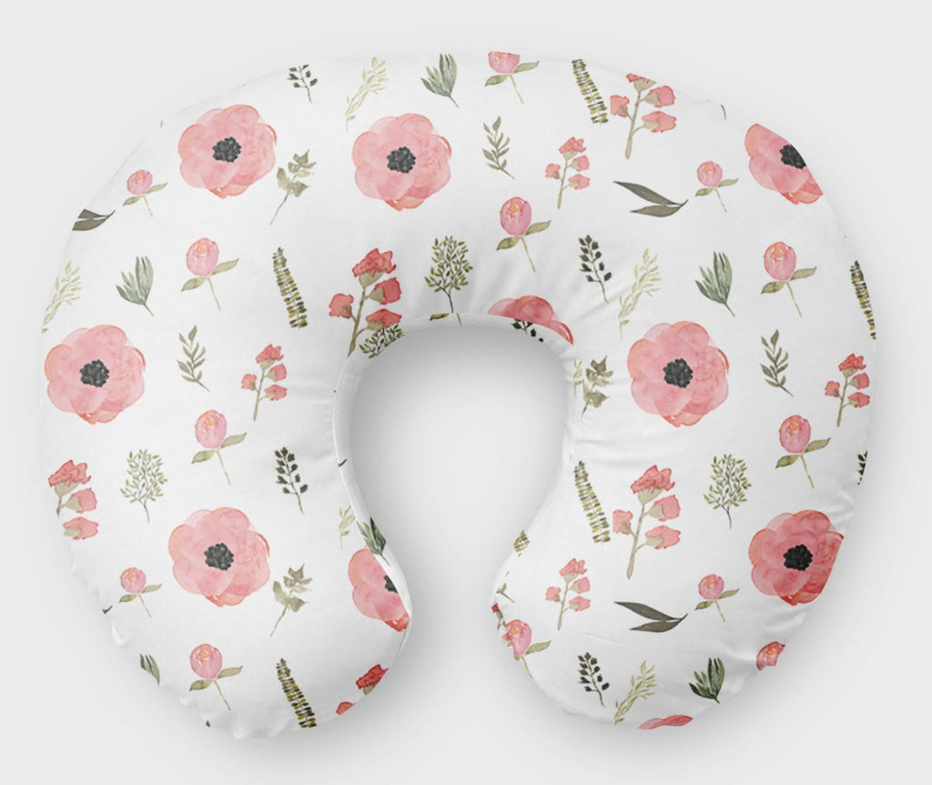 Floral Nursing Pillow Cover Flowers Nursing Pillow - Dream Evergreen @DreamEvergreen