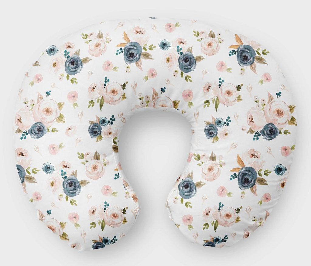 Boho Rose Boppy Cover - Floral Nursing Pillow Cover - Orange Blossom Special  @orangeblossomspecial805