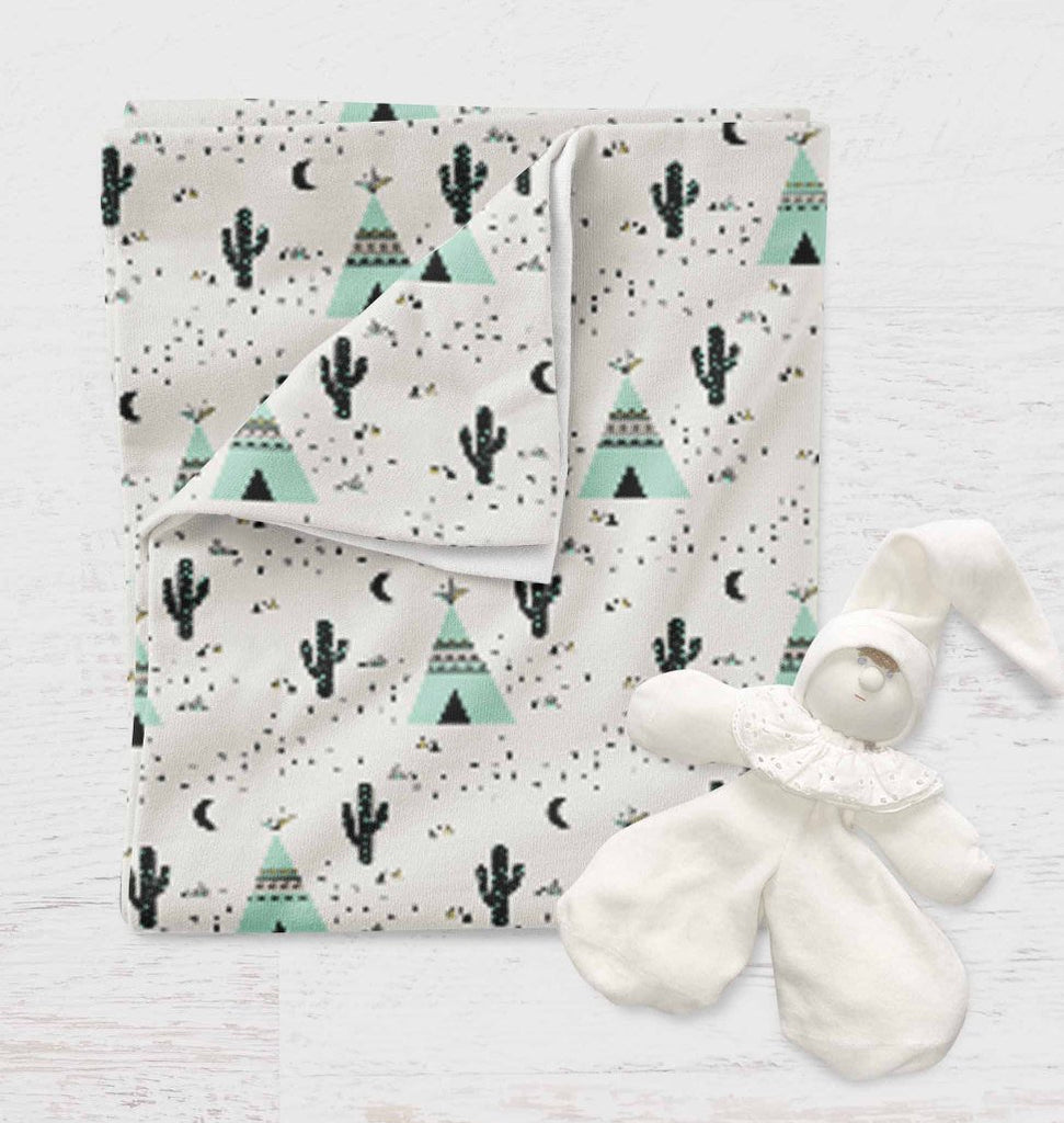 Cactus Swaddle Blanket - Teepee Baby Blanket - Dream Evergreen @DreamEvergreen