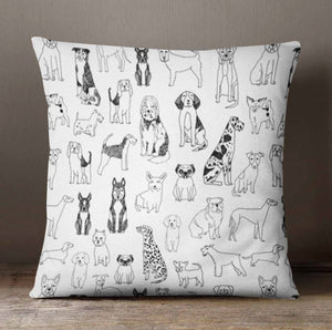 Dog Lover Throw Pillow Cover - Dream Evergreen @DreamEvergreen