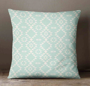 Aztec Pillow Cover - Mint Throw Pillow - Dream Evergreen @DreamEvergreen