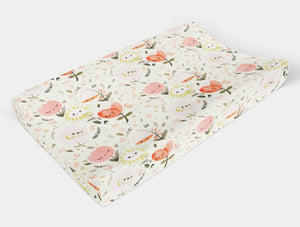 Flower Changing Pad Cover - Boho Floral Change Pad Cover - Dream Evergreen @DreamEvergreen