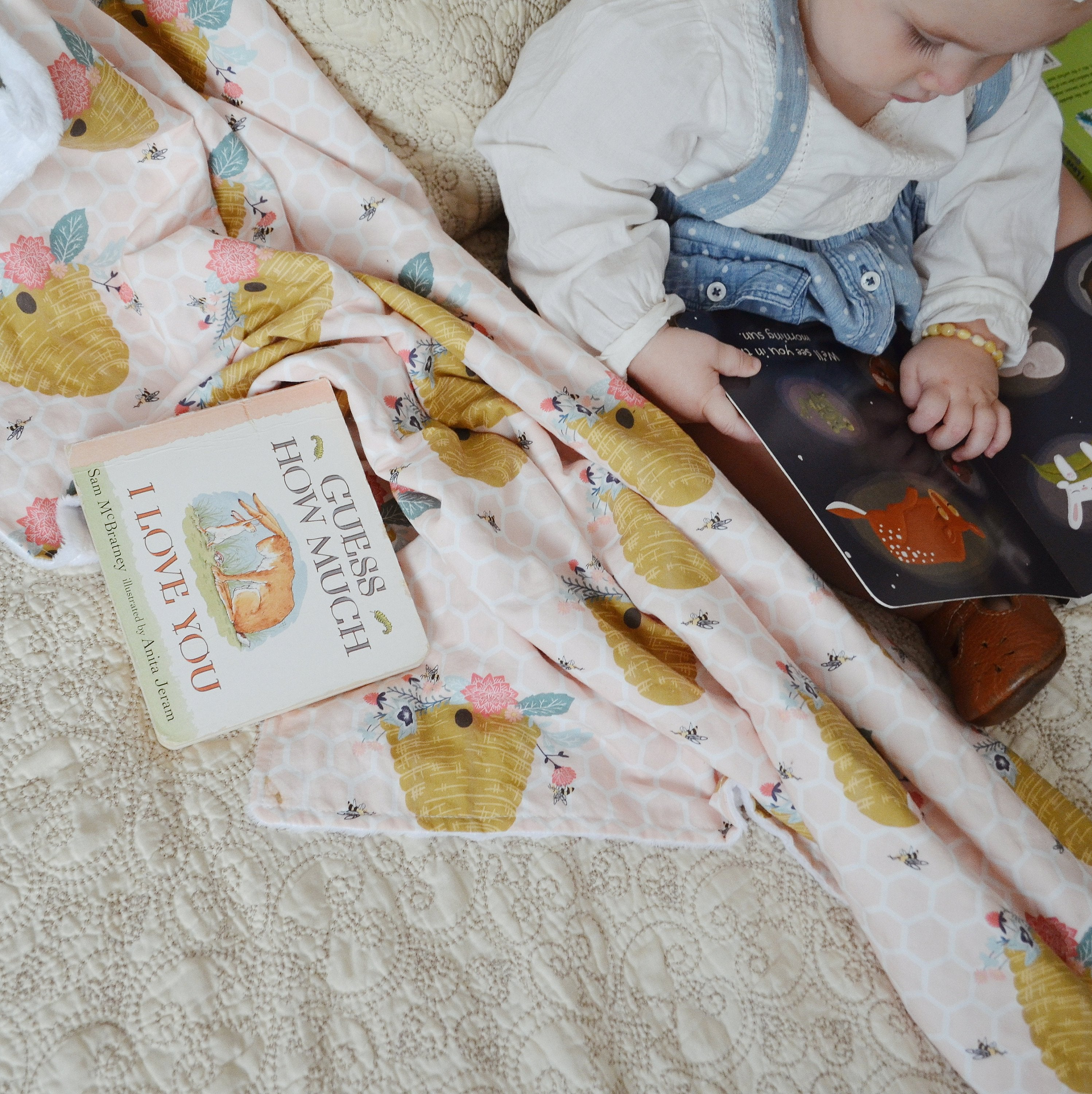 Bumble Bee Baby Blanket Floral - Orange Blossom Special  @orangeblossomspecial805