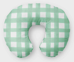 Mint Boppy Cover - Mint Watercolor Plaid Nursing Pillow Cover - Orange Blossom Special  @orangeblossomspecial805