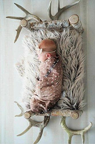 Deer Swaddle Blanket - Woodland Fawn Baby - Dream Evergreen @DreamEvergreen