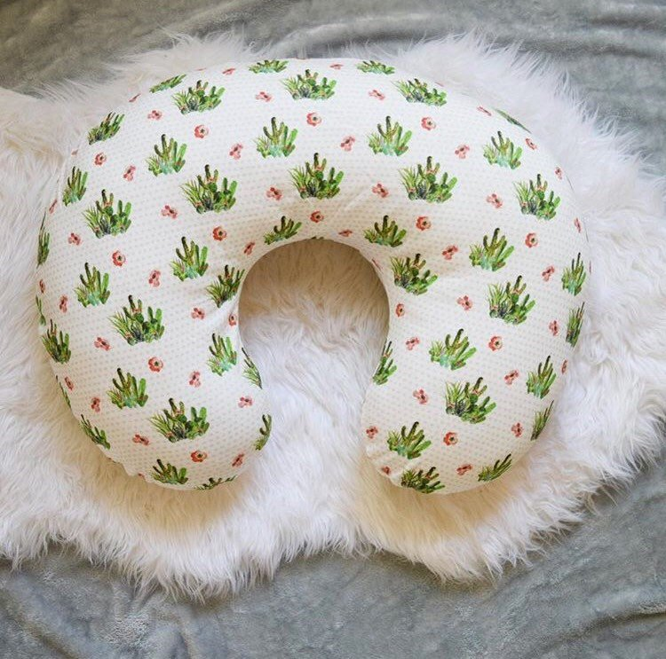 Cactus Nursing Pillow Cover - Succulent - Dream Evergreen @DreamEvergreen