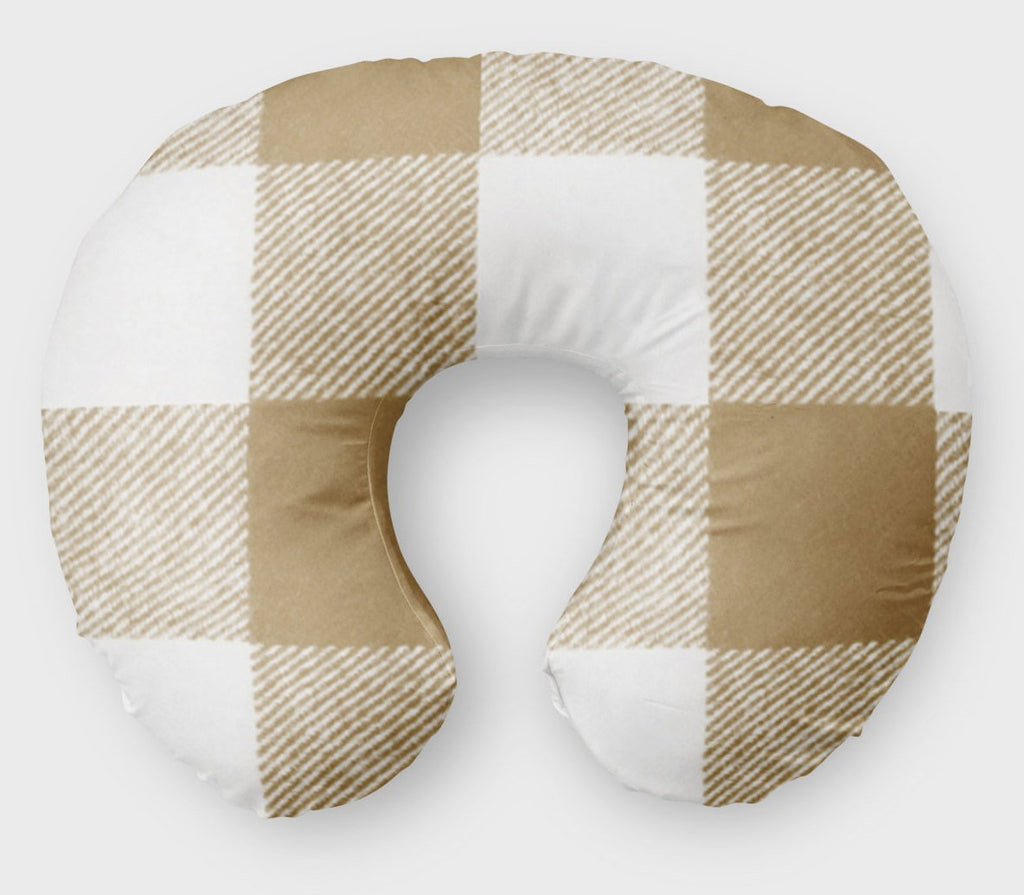 Brown Plaid  Boppy Cover - Nursing Pillow Cover - Orange Blossom Special  @orangeblossomspecial805