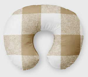 Brown Plaid  Boppy Cover - Nursing Pillow Cover - Dream Evergreen @DreamEvergreen