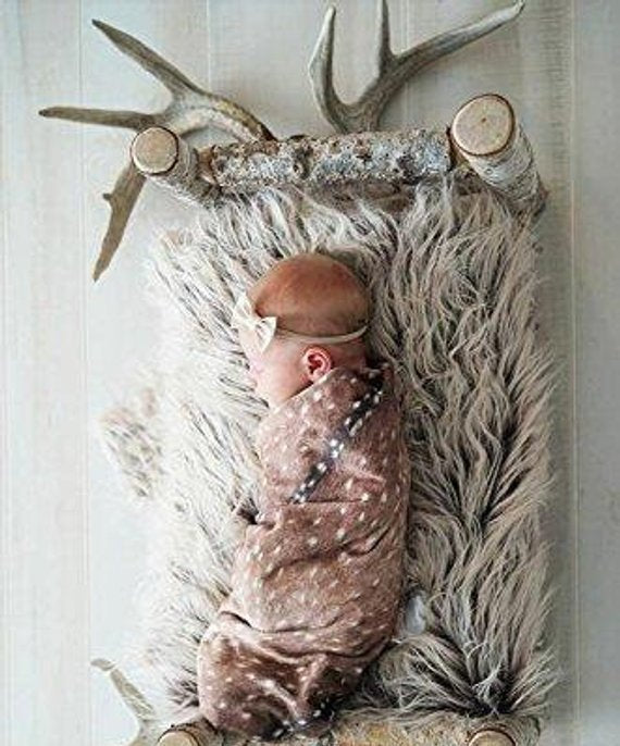 Deer Swaddle Sack - Fawn Cocoon Sleep Sack-Buck Newborn Woodland Newborn - Dream Evergreen