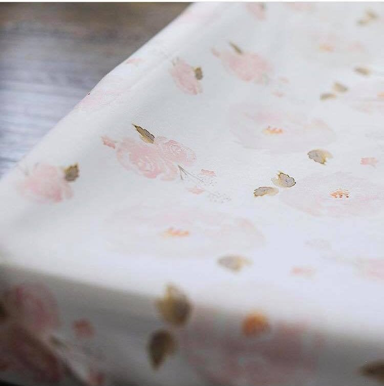 Floral Changing  Pad Cover - Pink Floral change pad cover - Dream Evergreen @DreamEvergreen