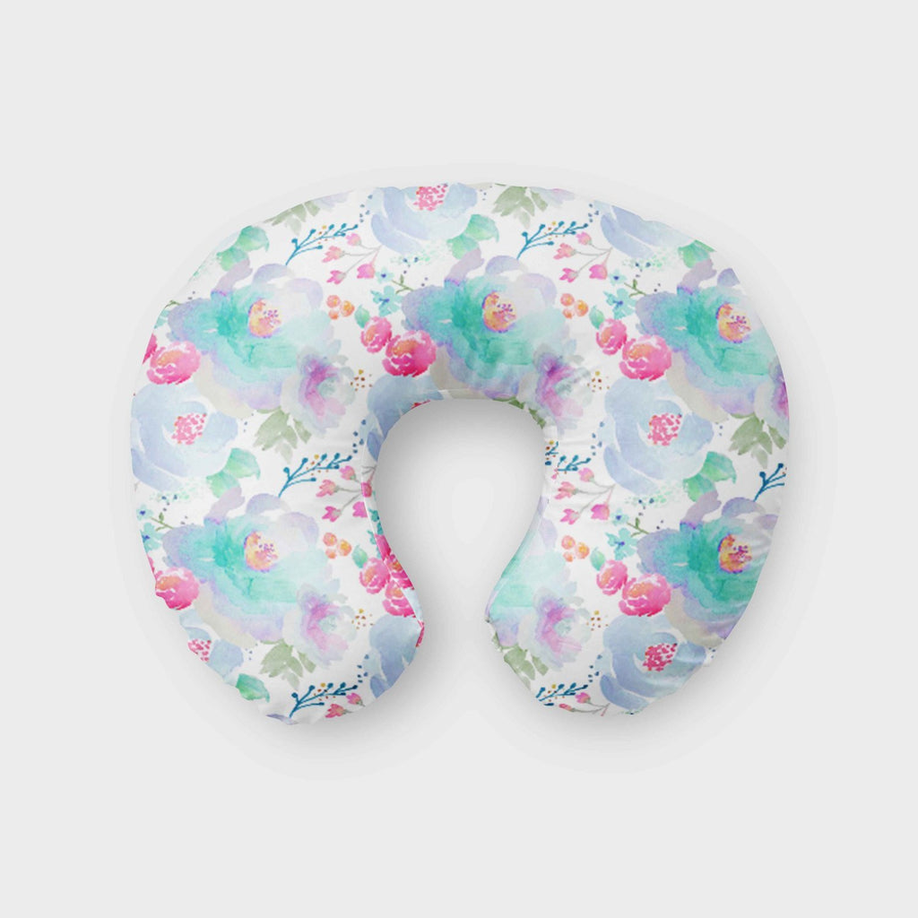 Floral  Nursing Pillow Cover - Boho  Boppy Cover - Dream Evergreen @DreamEvergreen