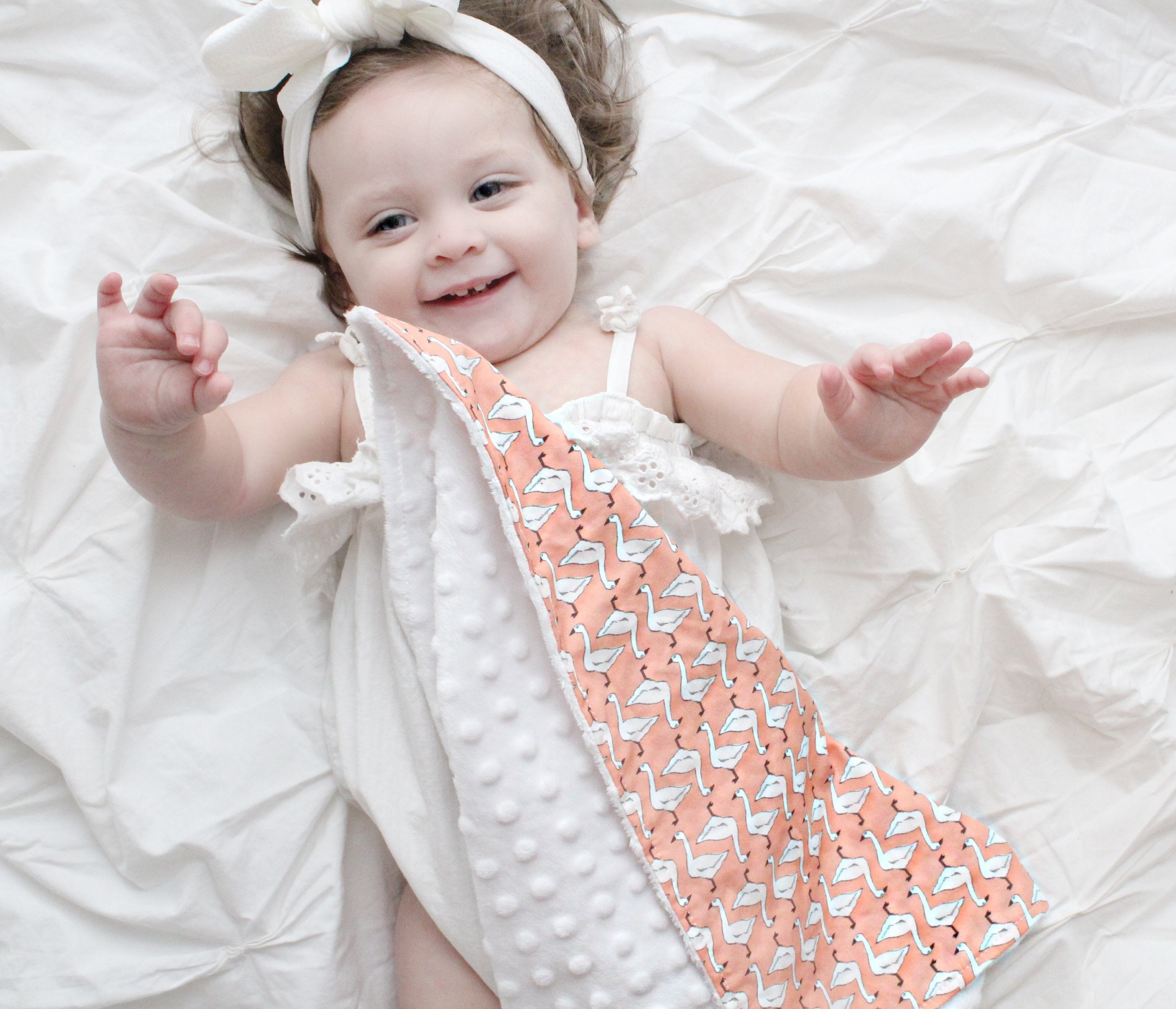 Goose Baby Blanket Pink Geese - Orange Blossom Special  @orangeblossomspecial805