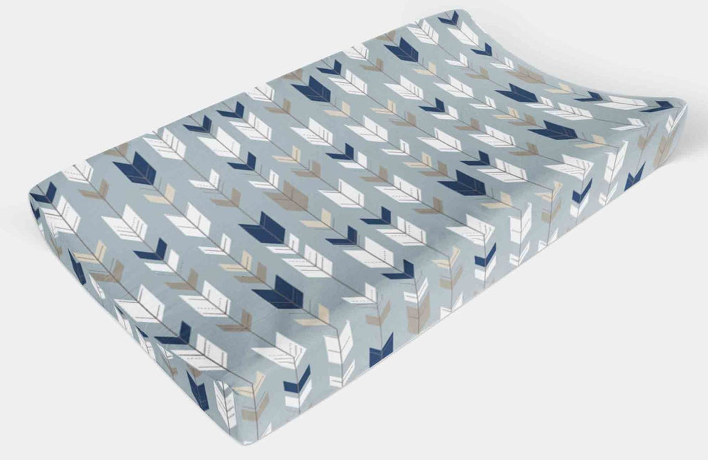 Changing Pad Cover - Blue Arrow Change Pad Cover, - Dream Evergreen