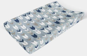 Changing Pad Cover - Blue Arrow Change Pad Cover, - Dream Evergreen @DreamEvergreen