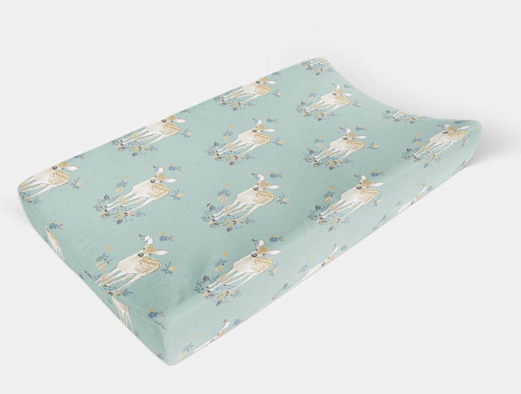 Woodland Changing Pad Cover -  Fawn Change Pad Cover - Orange Blossom Special  @orangeblossomspecial805