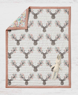 Deer Quilt - Baby Deer Blanket - Dream Evergreen