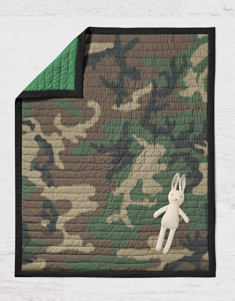 Camo Quilt- Camouflage Throw Blanket - Dream Evergreen