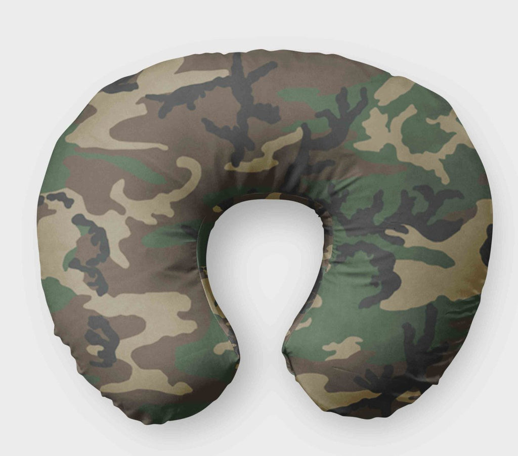 Camo Nursing Pillow Cover - Boppy Cover - Dream Evergreen @DreamEvergreen