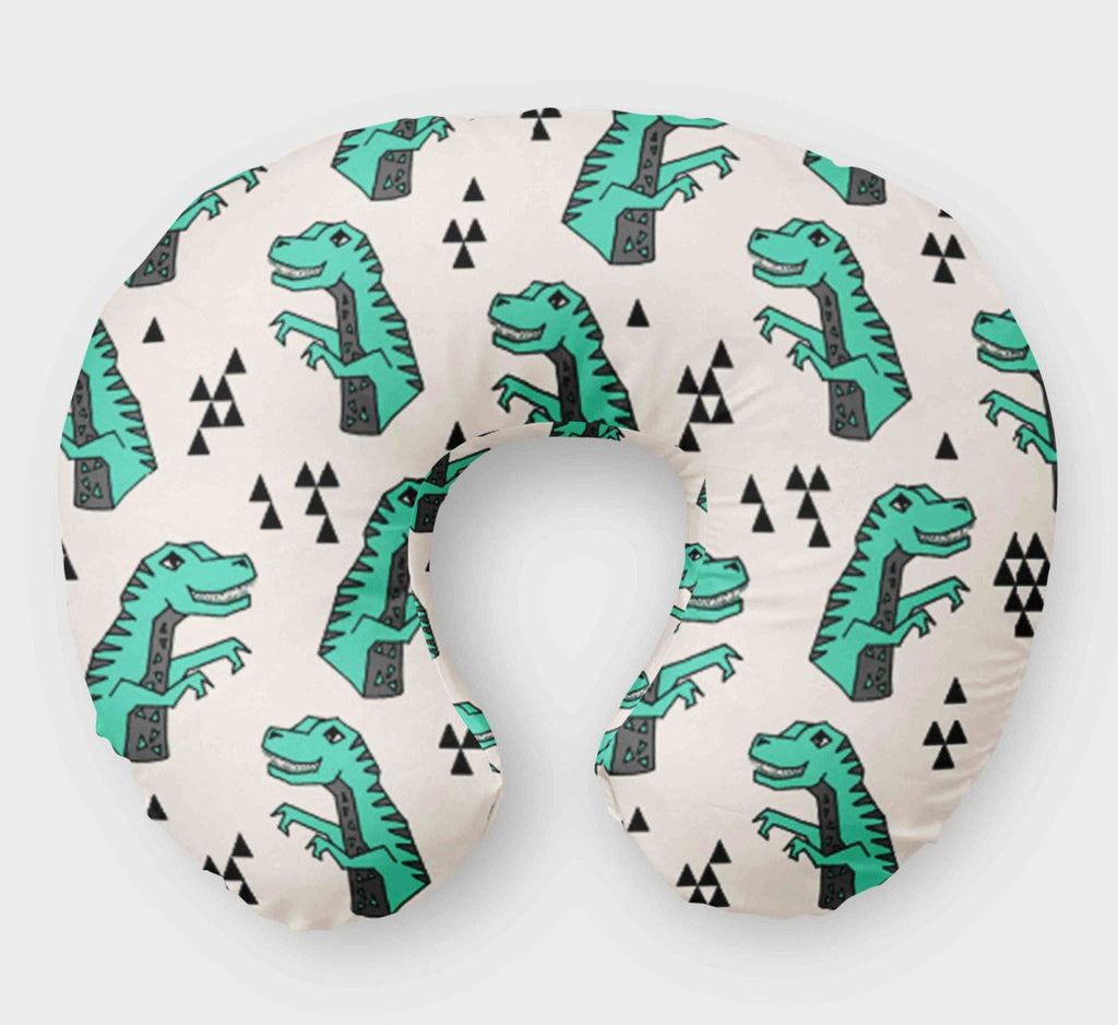 Dino Boppy Cover for Boys - Dinosaur -T-Rex Green - Dream Evergreen @DreamEvergreen