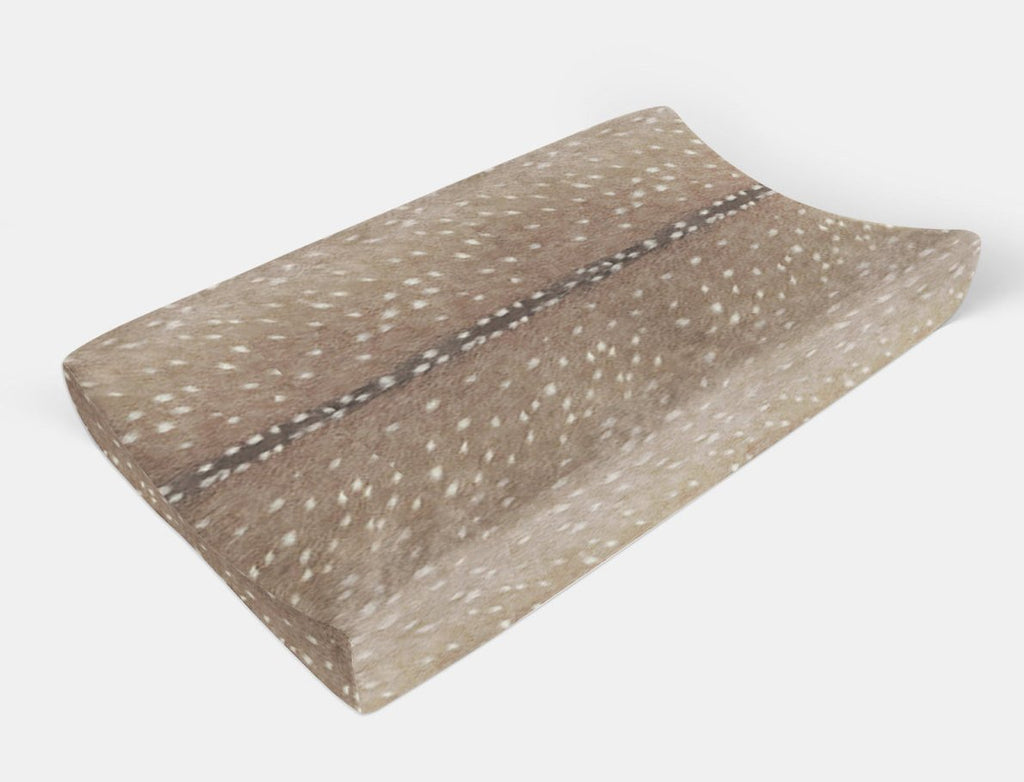 Axis Deer Skin Changing Pad-  Change Pad Cover - Dream Evergreen