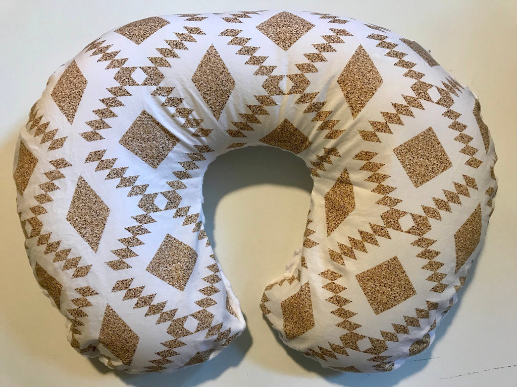 Tribal Nursing Pillow Cover - Boho Gold Boppy Cover - Dream Evergreen @DreamEvergreen