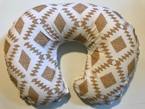 Tribal Nursing Pillow Cover - Boho Gold Boppy Cover - Orange Blossom Special  @orangeblossomspecial805